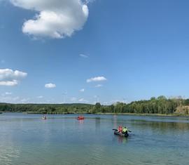 Schlauchbootausbildung  am Bresinchener See
