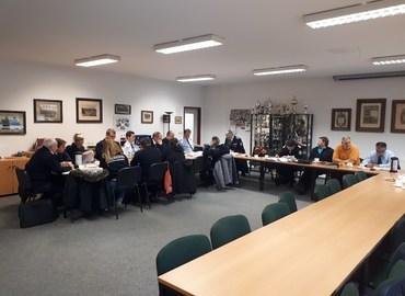 Sitzung der Amts-, Gemeinde- und Stadtjugendwarte gemeinsam mit dem Vorbereitungsteam zum Kreisjugendlager 2019 im Gerätehaus Peitz