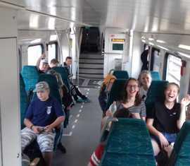 Die Fahrt mit dem Zug in Richtung Polnische Ostsee