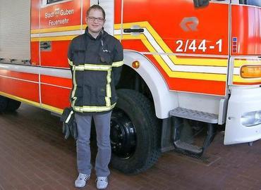 Nico Hammel aus Bresinchen ist der neue Stadtjugendwart der Feuerwehr Guben.