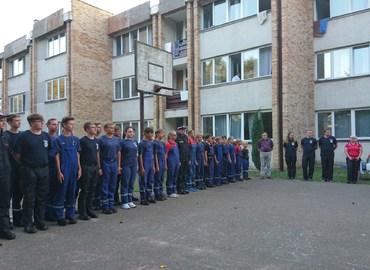 Großer Appell mit Komendant Gminny Ochrony Przeciwpożarowej Jan Rusak