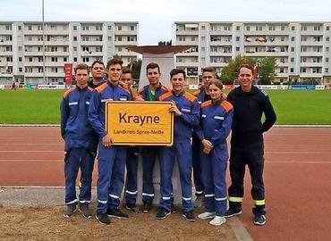 Einen hervorragenden fünften Platz bei 20 Mannschaften haben die Krayner Nachwuchsfeuerwehrleute bei den Landesmeisterschaften erreicht.